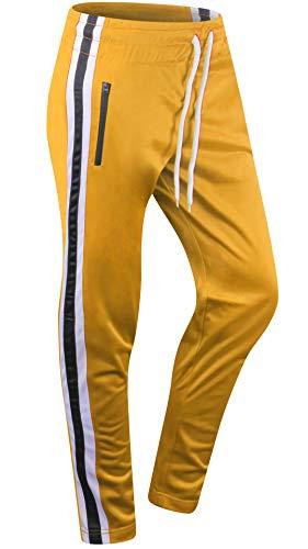 For Addiction Men (Style Addiction Mens Urban Dance Joggers Drawstring Jogger Pants (Large, Yellow-281))