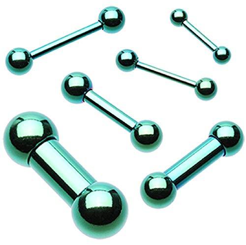 Colorline PVD Basic Steel Barbell (Size: 14 GA (1.6mm), Length: 1/2