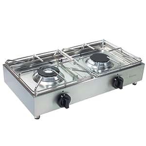 Camp 4 91759 cocina de gas port til fabricada en acero for Cocina de gas portatil