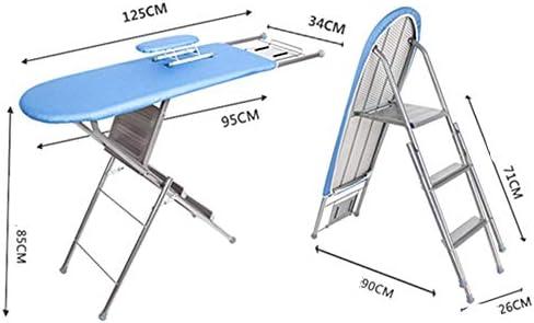 Jklt Tabla de Planchar Doble finalidad de Escalera Tabla de Planchar Plegable Tabla de Planchar Vertical Hogar Multifuncional Tabla de Planchar Estructura Estable y Ahorro de Espacio: Amazon.es: Hogar