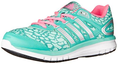adidas Performance Duramo 6.1 Running Shoe (Little Kid/Big Kid), Vivid Mint/Frost Mint/Neon Pink, 1 M US Little Kid