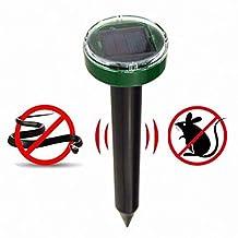 YYYHAN Repelente de Animales Ultrasónico, con batería Solar Disuasor de Mascotas Repelente de Gatos Repele humanamente a los Animales Repelente de Ratones para plagas de Animales Mantenga a los