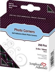 Bulk Buy: 3L Helmar Photo Corners Self Adhesive 250/Pkg 3/8'' Black 1669 (4-Pack) by HELMAR