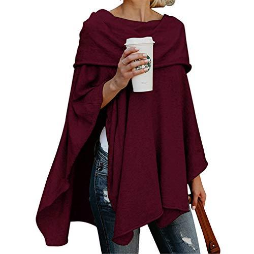 Shirt Sciolto Juqilu Irregular Maglione Cappotto Vintage 2XL Lunga Donna Eleganti Casual Solidi Manica Autunno Outerwear Orlo Colori S T 3 Primavera wgSYw