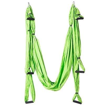 Alger Anti multifonctionnel de yoga de vol d'air de conditionnement physique multifonctionnel de hamac de volant aucune élasticité, 250 * 150cm , vert