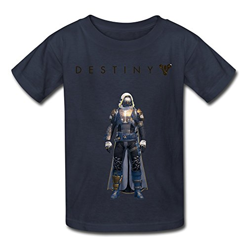 QMY Kid's Vintage Destiny Ironbanner Hunter T-shirts Size XS Navy