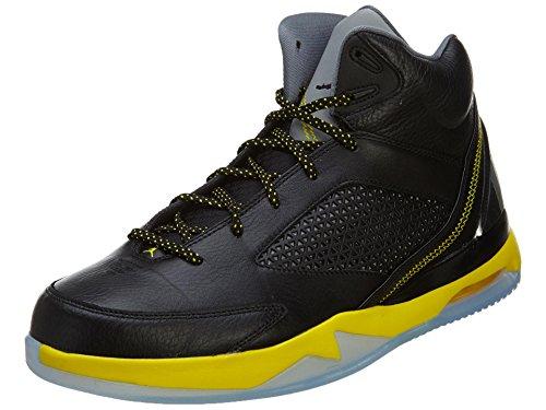 Jordan Nike Men Air Flight Remix Basketball Shoe (9 D(M) US, Black/Vibrant Yellow/Cool Grey)