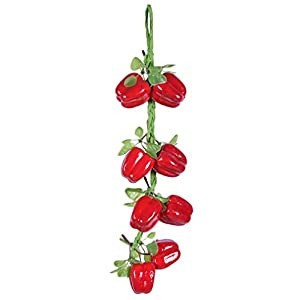 Kesheng 1 Bunch Artificial Foam Chili Peppers Bunch with Paper String Fake Vegetables Party Home Kitchen Decoration 7