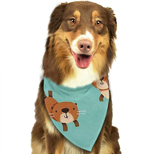 ZZJIAK Dog Bandana Scarf Cute Happy Otters Triangle Bibs Printing Kerchief Set Accessories Dogs Cats Pets]()