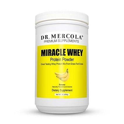 Dr. Mercola, polvo de proteína de suero de leche Miracle, plátano, 1