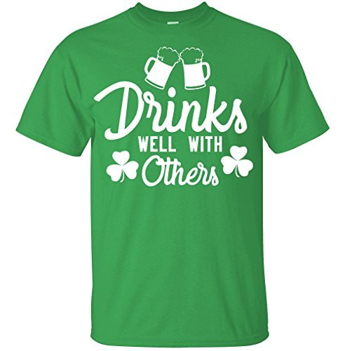 Men's T Shirt Saint Patricks Day Drinks Well With Others Green XX-Large -