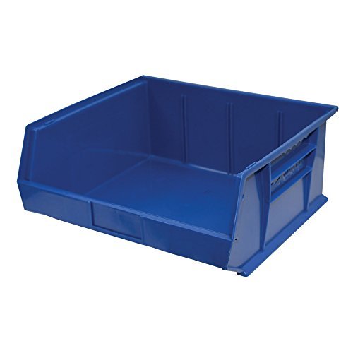 Storage Pro Stackable Blue Bin, Pack of 6 Bins, 14