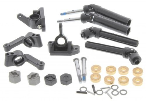 Traxxas RUSTLER XL-5 DRIVE SHAFTS REAR AXLES SPINDLES BUSHINGS & 12MM HEX HUBS by Traxxas