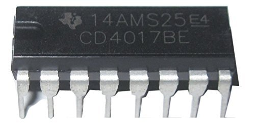 Texas Instruments CD4017 CD4017BE CMOS Decade Counter with 10 Decoded Outputs DIP16 10 Pieces