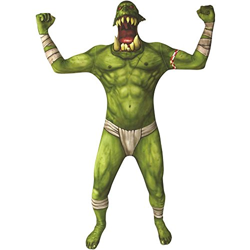Green Kids Morphsuit (Morphsuits 78-0336L Green Orc Jaw Dropper Kids Suit -)
