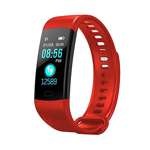 A5 Heart Rate Monitor Watch - evelove Fitness Tracker, Heart Rate Monitor Activity Tracker Fitness Watch with Waterproof, Smart Bracelet with Step Calorie Counter, Sleep Monitor, Pedometer Watch for Women Men Kids