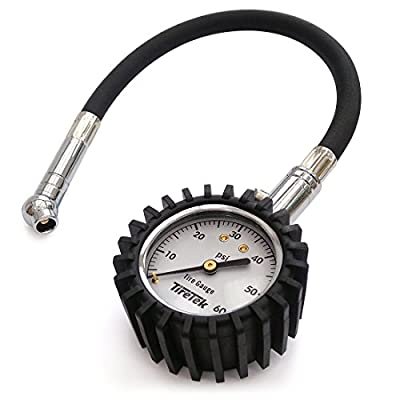 TireTek Flexi-Pro Tire Pressure Gauge, Heavy Duty Car & Motorcycle - 60 PSI