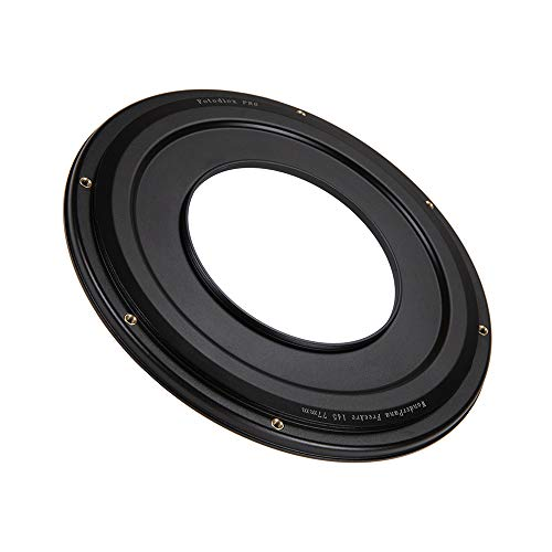 WonderPana FreeArc 77mm-145mm Step-Up Ring from Fotodiox Pro, Anodized Black Metal Aluminum Step Up Ring for 77mm Lens Threads to 145mm Round Filters ()