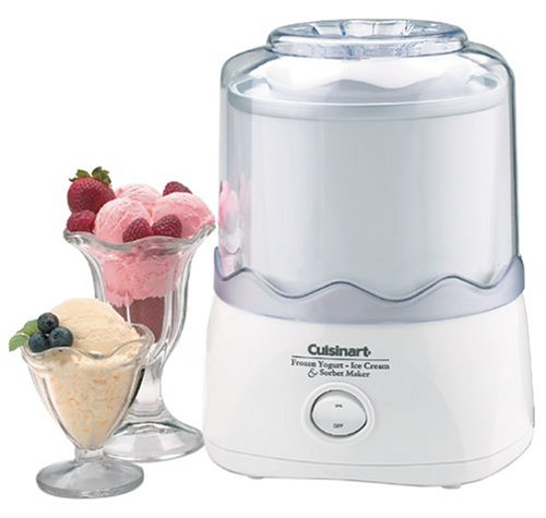 Cuisinart ICE-20 Automatic 1-1 2-Quart Ice Cream Maker, White