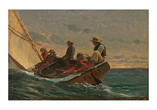 Spiffing Prints Winslow Homer - The Flirt (1874) - Small - Matte - Unframed ()