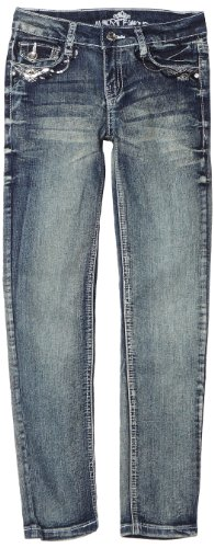 Almost Famous Big Girls' Skinny Jean, Indigo, 12