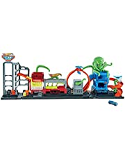 Hot Wheels City Ultimate Octo Car Wash Playset with No-Spill Water Tanks & 1 Color Reveal Car That Transforms with Water, 4+ ft Long, Connects to Other Sets, Gift for Kids 4 Years Old & Up Multicolor