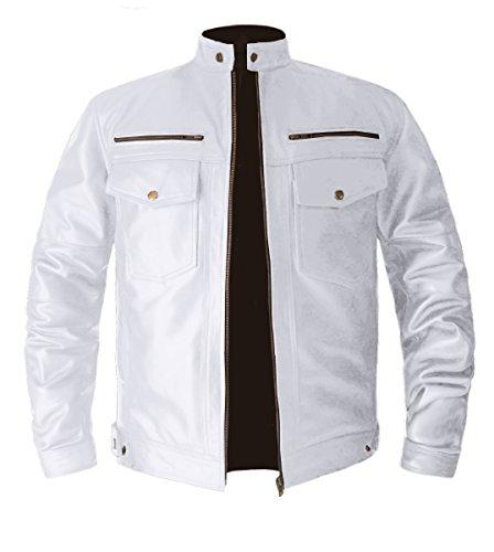 luvsecretlingerie Men's Stylish Superb Real Genuine Leather Bomber Biker Jacket