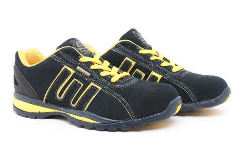 T'Adore Mens Womens Work Shoes Groundwork Steel Toe Cap Trainer Safety Boot Navy Yellow