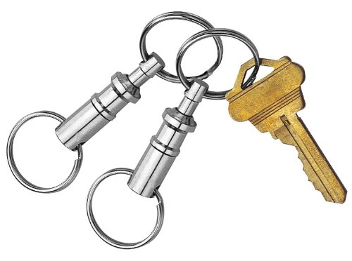 Custom Accessories 44101 Pull-Apart Key Chain, (Pack of 2) - Pull Apart Key Ring