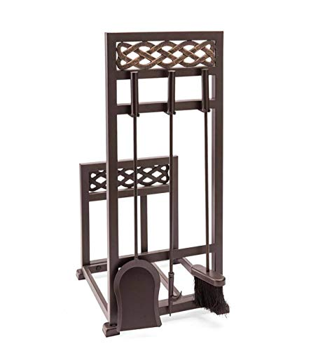 Bronze Fireplace Log - Plow & Hearth McCormick Celtic Fireplace Tool Set Log Rack - 13.75''W x 14.75''D x 30.75''H - Bronze