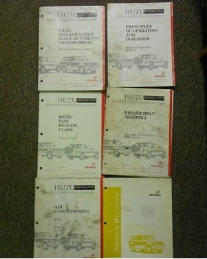Isuzu Trooper Dealer - 1994 Isuzu Trooper Rodeo I Mark Amigo Stylus Service Repair Manual Set OEM 94 (1994 Isuzu New Dealer Class 1994 Disassembly/Assembly Automatic Transmission 1994 Air Conditioning A/C3 1994 And Later 4L30-E Automatic Transmission Diagnosis Training Guide 1994 Principals of Operation and Diagnosis- Automatic Transaxle 1994 Isuzu Service Bulletin)