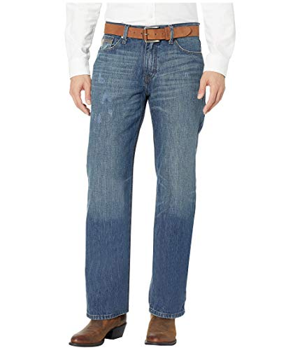 Cinch Men's Grant Relaxed Fit Jean, Heavy Medium Stonewash, 33 x32 (Cinch Relaxed Fit Jeans)