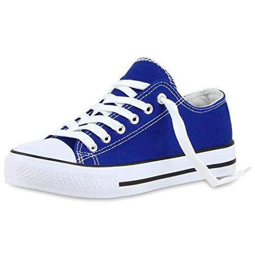 Zapatillas planas, unisex, deportivas Blau Bianco