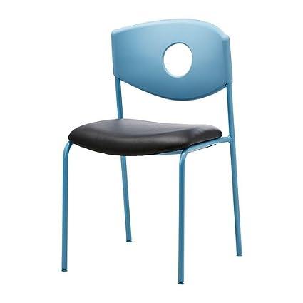 Ikea Stoljan Konferenz Stuhl Blau Schwarz Amazon De