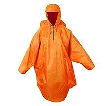 MagiDeal Backpack Cover Hooded Raincoat Poncho Rain Cape Outdoor Hiking Camping Rainwear
