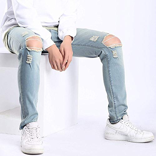 Cher Colour Fit Jeans Blue Jeans Denim Stretch Slim Agujeros Trousers Hombre Rtknie Pants Casual Hombres Washed Pants Joven 8TH0Xq5