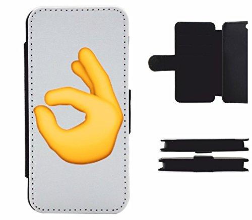 """Leder Flip Case Apple IPhone 5/ 5S/ SE """"Zeichen für alles in Ordnung"""", der wohl schönste Smartphone Schutz aller Zeiten."""