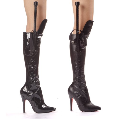 Ellie Shoes Sexy Knee High Boot Whip Black PU 5