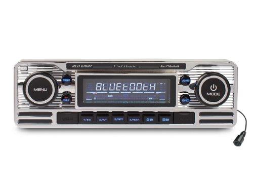 Retro Art Woonkamer : Caliber rcd bt retro look radio mit bluetooth chrome amazon