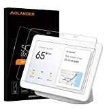 Aolander [2 Pack] Screen Protector for Google Home Hub 2018,[2.5D Round Edge] [9H Hardness] [High Definition] [Bubble Free] Tempered Glass Screen Protector for Google Home Hub Smart Speaker (7 Inch)