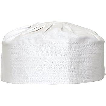 f18fd1f69b45 Manal Enterprises New Islamic Kufi Prayer Cap Egyptian Mens Pure Cotton Muslim  Hat Topi Namaz Beanies''