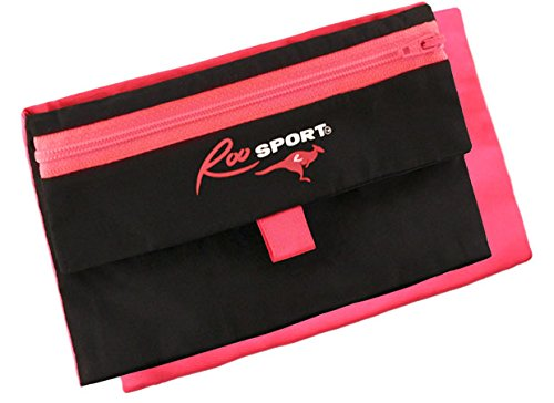 """The RooSport 2.0 Pink 6""""x4"""" - The First, Original Magnetic Pocket Attachable Running Pouch"""