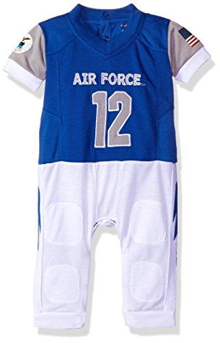 - FAST ASLEEP NCAA Air Force Falcons Boys Infant Football Uniform Pajamas, 12-18 Months, Light Blue/White