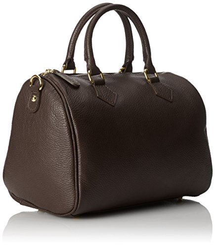 Mano Scuro da Borsa Marrone a Donna CTM 30x23x18cm Bauletto Italy Made in 100 wZ4UXCxq