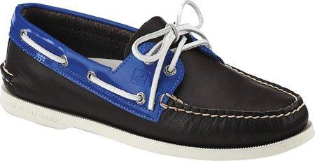 Zapatillas Sperry Top-sider Para Hombre A / O Boat Marrón / Azul Charol