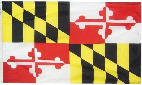 3x5' Maryland Heavy Weight Nylon Flag From All Star Flags