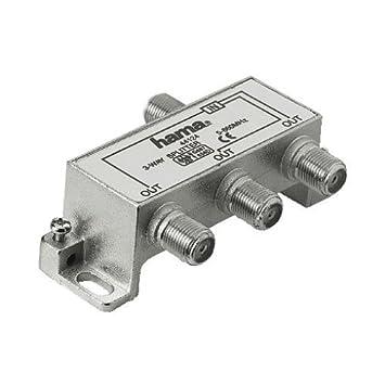 Hama Breitband-Kabel-Verteiler, 3fach: Amazon.de: Elektronik