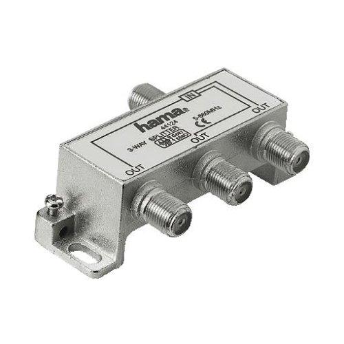 Hama Breitband-Kabel-Verteiler, 3fach