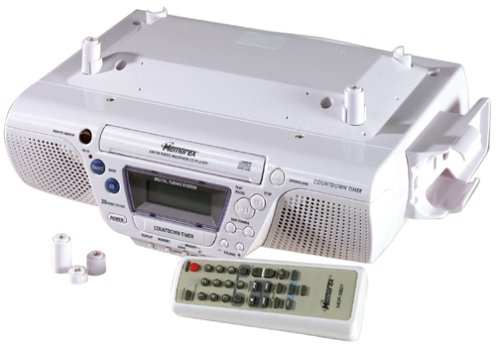 Memorex MC-3800 Under-the-Counter CD Clock Radio