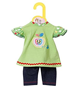 Zapf BABY born® Kleider Kollektion Dolly Moda Shirt mit Leggings Gr 30-36cm,